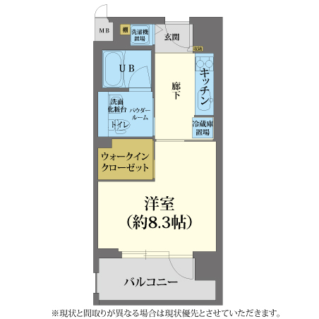AS心斎橋4 【スタンダードA】 間取り
