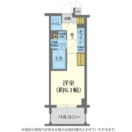 AS東本町2 【スタンダードB】 間取り
