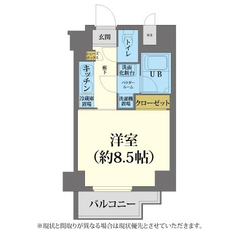 AS梅田北2 【エクセレントB】 間取り