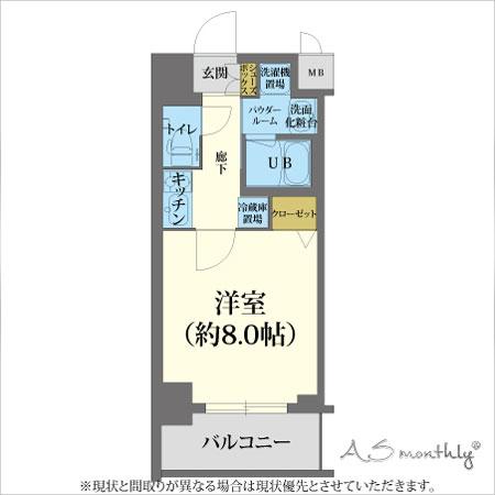 A-grade四条大宮1-B 【ウィークリー・マンスリーマンション】