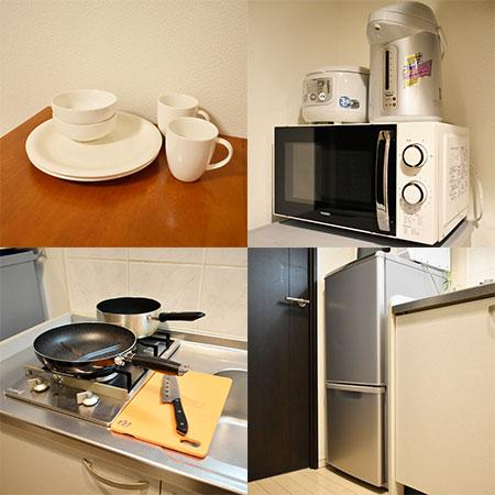 AS大阪・梅田インターコア【ハイグレード】 キッチン設備