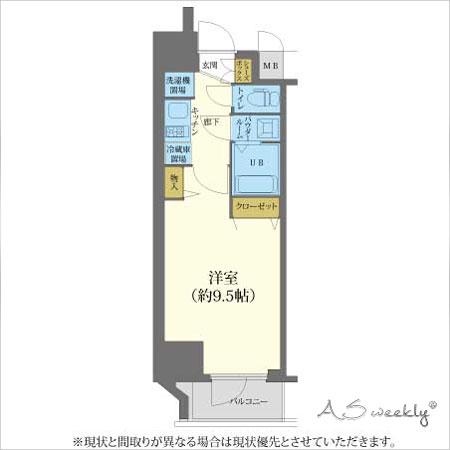 心斎橋(72) 間取り