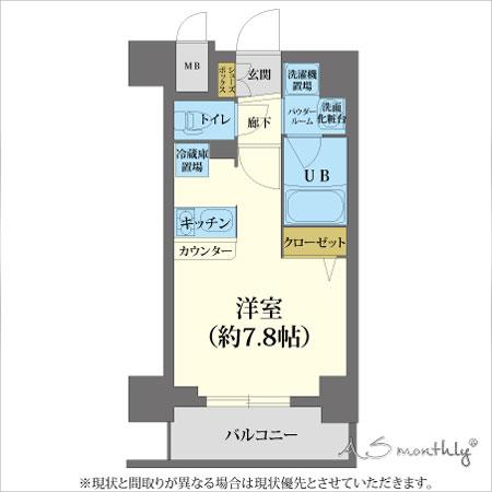 心斎橋ステーションフロント-1(92)間取り