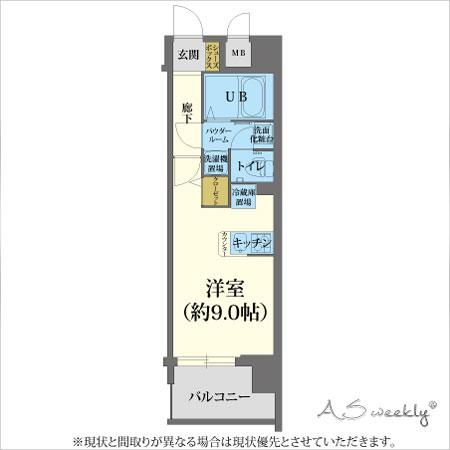 新大阪アドバンスⅤ-2(95)間取り