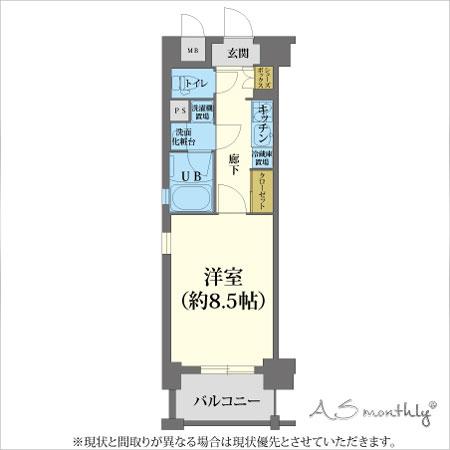 心斎橋東Ⅱ(106)間取り