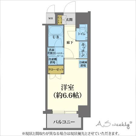 江戸堀-1(73)禁煙 間取り