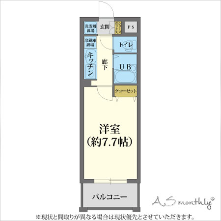 京都駅前fom-1 禁煙(86) 間取り