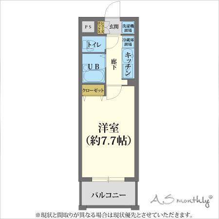 京都駅前fom-2 禁煙(84) 間取り