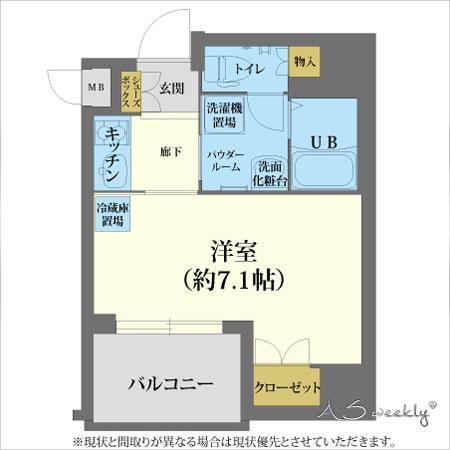江戸堀-3 禁煙 間取り