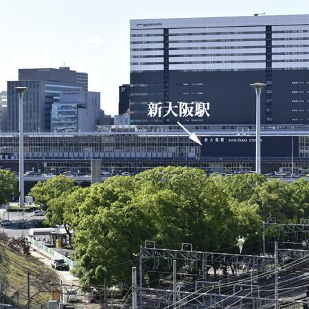 AS新大阪3 【スタンダード】 共用廊下からの眺望