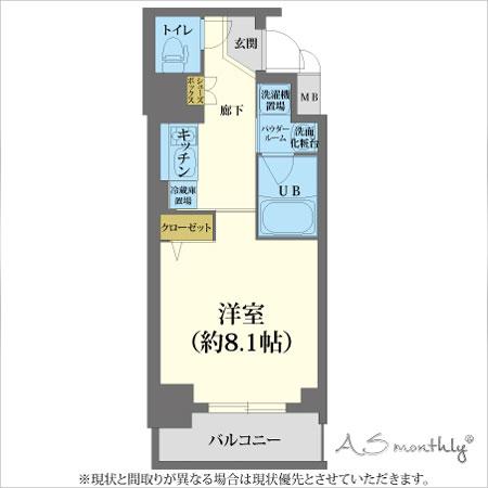 A-grade心斎橋3-B 【ウィークリー・マンスリーマンション】