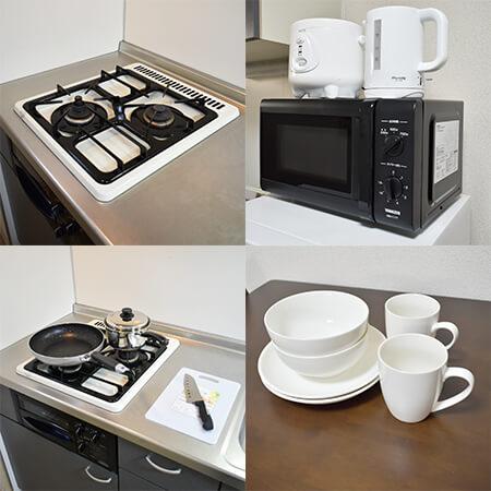 AS大阪・梅田3 【ハイグレード】 キッチン設備