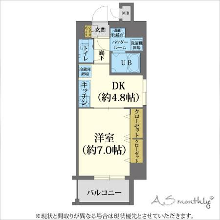 A-grade梅田西-B【ウィークリー・マンスリーマンション】